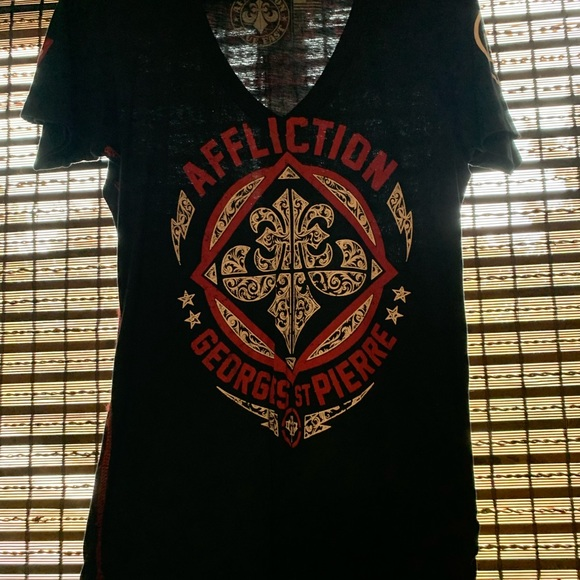 Affliction Tops - Gently used Affliction GSP tee size M